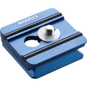 """Novoflex QPL-1 Arca-Type Quick Release Plate for Q-Base System, 1.7"""" Long - with 1/4-20"""" Screw"""